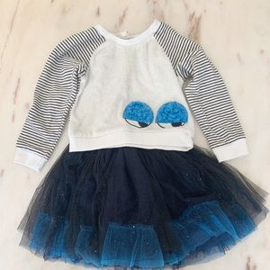Dress with removable matching sweatshirt top
